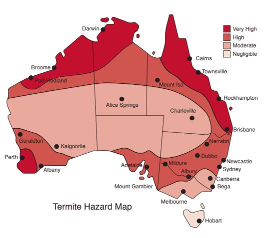 Termite Hazard Map